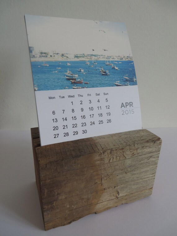 Calendar Wood Stand : Items similar to desk calendar with wooden stand