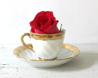 Mini Teacup With Gold Trim