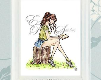 "Summer ""Seasons Readers"" Illustration Print"
