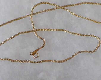 14k yellow gold chain spring ring end 20'' long 6.4 gram