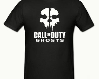 Ghost call of duty t shirt,mens t shirt sizes small- 2xl,gaming t shirt