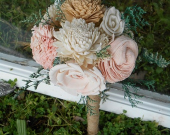 Vintage Rose, Wedding Bouquet, Bouquet, bridal Bouquet, Sola Bouquet, Sola Flower bouquet, sola flowers, rustic wedding, bridesmaid bouquet