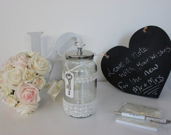 Wedding Guest Book Alternative - Message Keepsake Jar