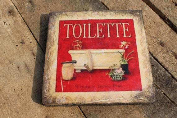 Targa in legno toilette bagno wc sala da bagno scritta - Toilette da bagno ...