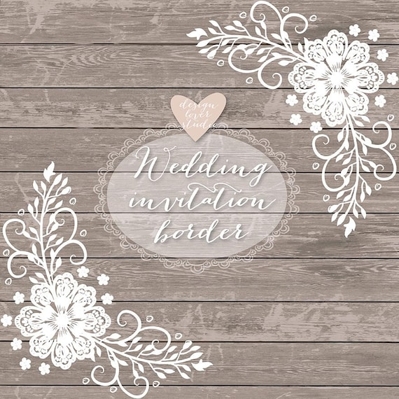 rustic wedding borders wallpaper - photo #3