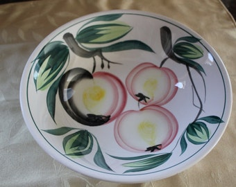 Ceramic Bowl with Painted Fruit