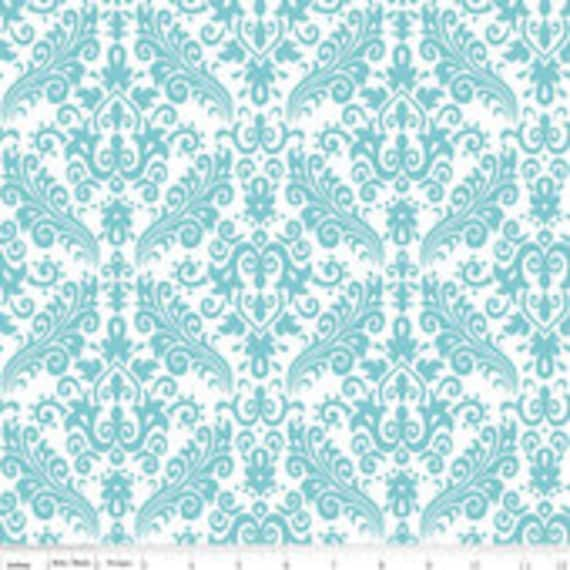 Riley Blake Basics Damask C820-20 Aqua BTY( By the yard)