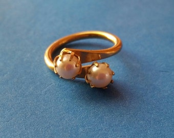 Vintage Sarah Coventry Duet Bypass Ring