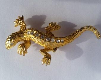 Vintage Lizard Brooch