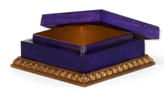 Faux aged trinket box.