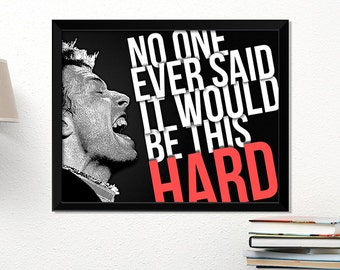 Coldplay poster, rock poster, Chris Martin, music art, typography art