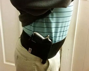 Mens Concealed Carry Waistband Gun Holster, Belly Band - Made In USA! - Summer Sale - Free Shipping in the USA