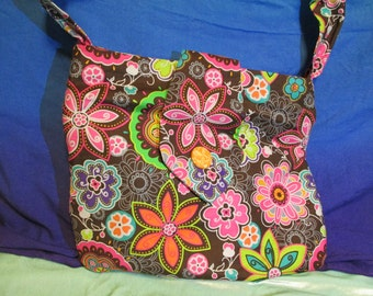 Floral Purse with Flap