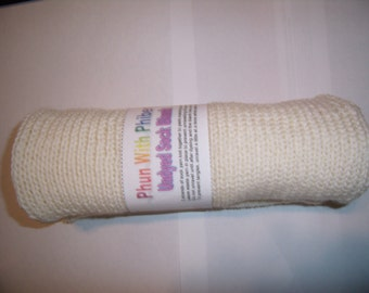 Undyed, wool /  bamboo blend, sock blanks