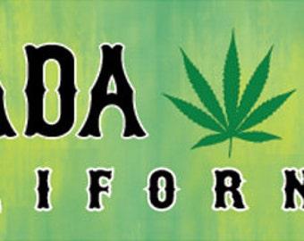 Bumper sticker for the 'medicinal' user in Nevada City CA