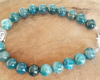 High quality gemstone bracelet, Apatite (below operation of the stone) Gemstone bracelet, high quality.