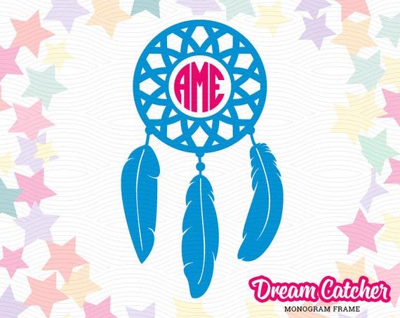 Dream Catcher Monogram Frame Svg Eps Dxf Studio3 Indian