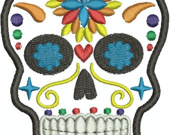 Digital Embroidery Design - Sugar skull