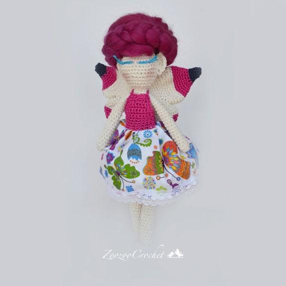 Amigurumi Doll Skirt : Crochet dollCrochet Amigurumi dollFairy dollSwimming