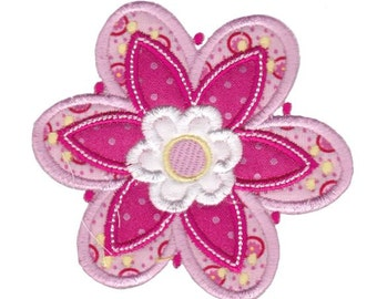 Cute Flower Applique Design 11 Machine Embroidery Design 4x4 5x7 6x10
