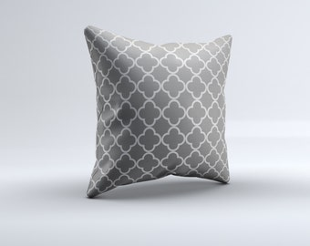 quatrefoil throw pillow, modern throw pillow, grey, decorative pillow, 16x16, 18x18, 20x20,14x14 modern throw pillow,  pillow