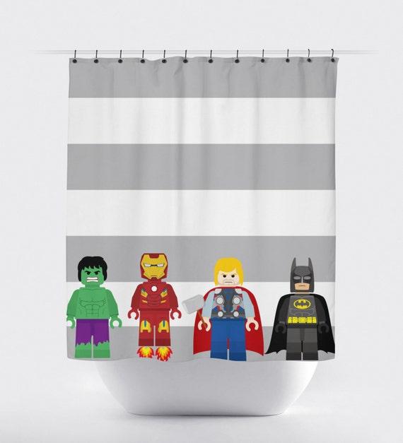 Superhero shower curtain super hero shower curtain avengers shower