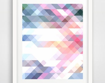 Geometric Print,  Printable Art, Triangle Print, Abstract Art Print,  Instant Download, Modern Wall Art, Wall Print
