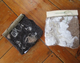 Felted Wool Journals with Flax and Angora