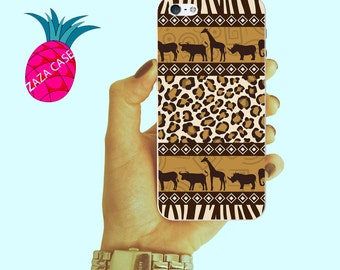 Pattern Iphone 6 case African Iphone 5 case Animal Iphone 5C case Leopard Iphone 6 plus case Vintage Iphone 5s case New Iphone 4 case cover