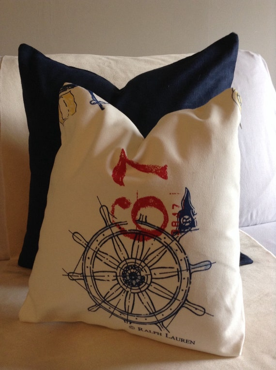 Ralph Lauren Throw Pillow Covers : Ralph Lauren Seaworthy Pillow Cover Duo Two by TurtleAndTreadle