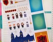 EBD101 Harry Wizard, Hogwarts, Planner Sticker Kit