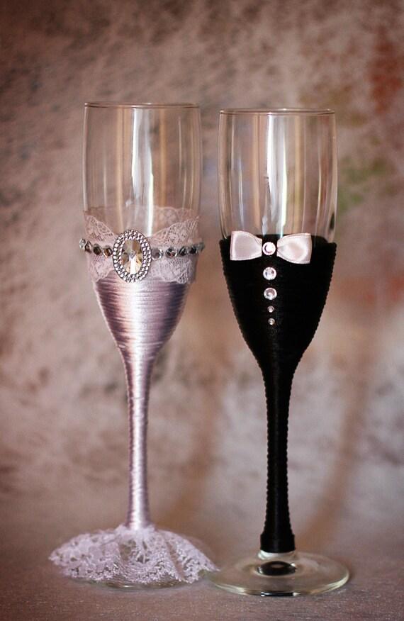 wedding glasses champagne glasses glasses rustic wedding. Black Bedroom Furniture Sets. Home Design Ideas