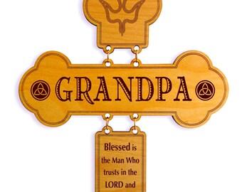 Father's Day Gift to Grandpa,Valentines Gift for an Awesome Grandpa,Grandpa Appreciation Gift, Grandpa Birthday Gift,Custom Wall Cross