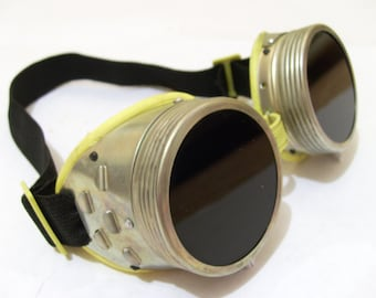 goggles / old steampunk goggles/ steampunk clothing/ safety goggles/ dark glasses frames/eyeglasses
