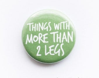 Photography button badge - 'I shoot things with more than 2 legs', 25mm metal pin