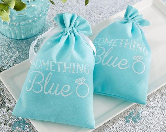 Something Blue Bridal Shower Guest Favor Bags Set Of 12