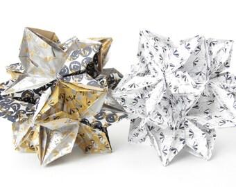 Three dimensional paper flower ball.