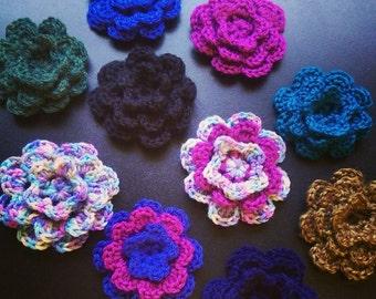 Flower Embellishments (set of 3)
