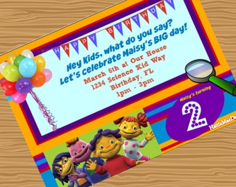 Customized Sid the Science Kid Bithday Party Invitation  - Digital File - 5X7