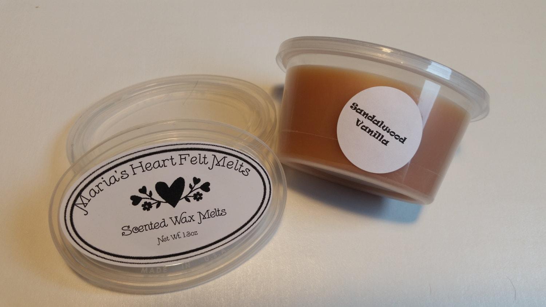 sandalwood vanilla scented wax melts by mariasheartfeltmelts. Black Bedroom Furniture Sets. Home Design Ideas
