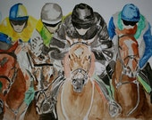 Race to the finishing line. Unmounted