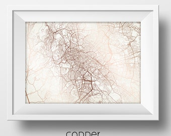 Rome Italy Street Map Modern Minimalist Art Print Office or Home Wall Decor