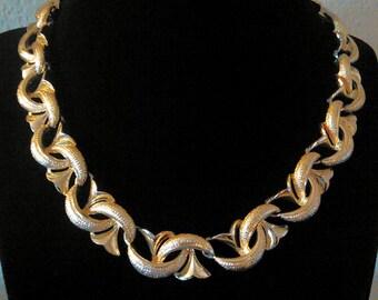 Vintage Coro Gold Necklace, Choker
