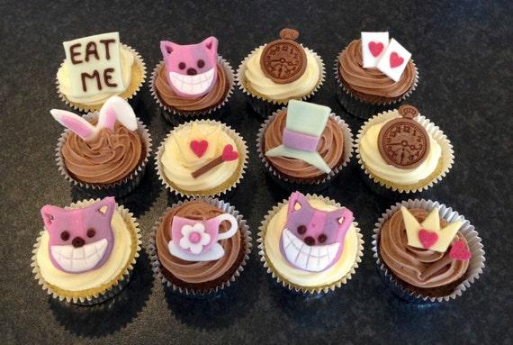 Edible Cake Decorations Alice In Wonderland : Edible icing Alice in Wonderland theme Cheshire by ...