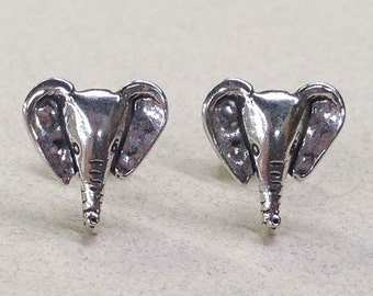 Sterling Silver Elephant Head Studs ( New Lower Price )