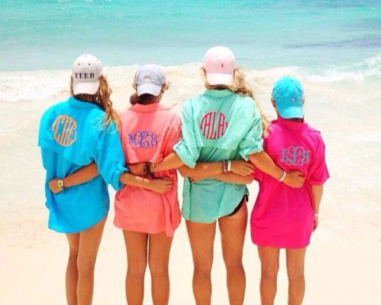 Monogrammed women 39 s fishing shirt cover up for Monogram fishing shirt