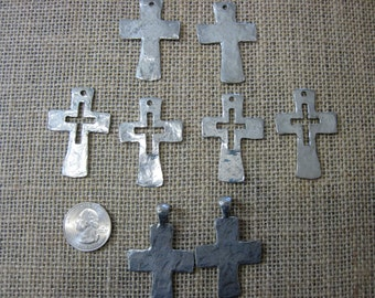 Pewter cross collection 8pc in all