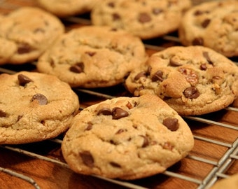 Homemade Chewy Chocolate Chips Cookie Dozen