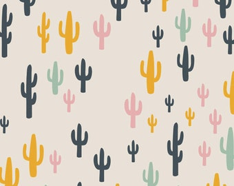 Cotton Fabric - Cacti Field Fun Print - Morning Walk Collection