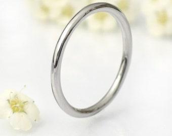 1.5mm Halo Wedding Ring, Platinum